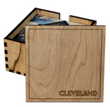 4 Holder Wooden Cleveland Coaster Box