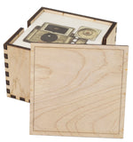 6 Holder Wooden (Blank Lid) Coaster Box