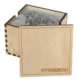 6 Holder Wooden Pittsburgh Coaster Box