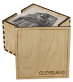 6 Holder Wooden Cleveland Coaster Box