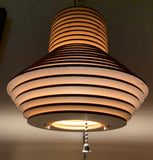 Hanging Wooden Pendant Light - Bell Light