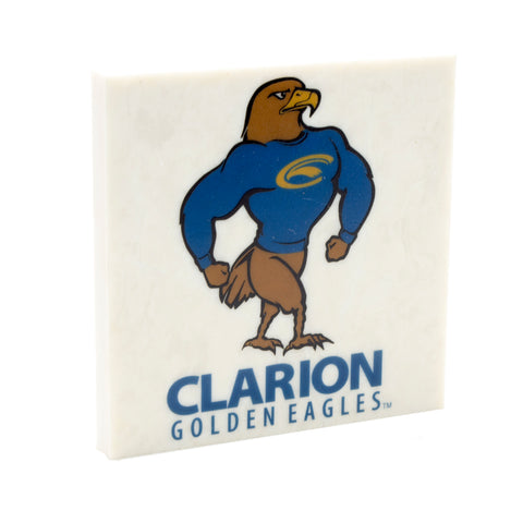 Officially Licensed Logo'd Clarion University Golden Eagle Drink Coaster