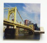 6th Street Bridge Drink Coaster - Pittsburgh, PA - 088