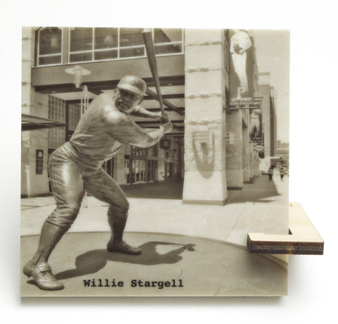Willie Stargell Statue Black and White Drink Coaster - 704