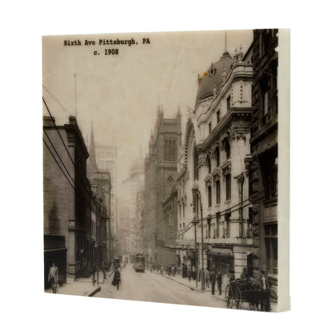 Sixth Avenue Pittsburgh, Pa c. 1908 Coaster - 052