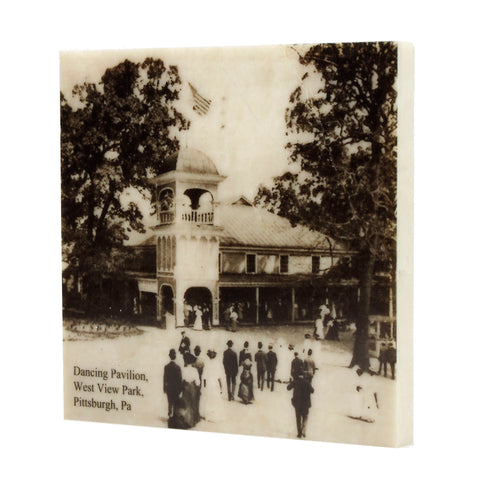 West View Park Entrance and Dancing Pavilion Drink Coaster - 057