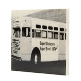 1974 Steelers Super Bowl Bus Drink Coaster - Pittsburgh PA - 073