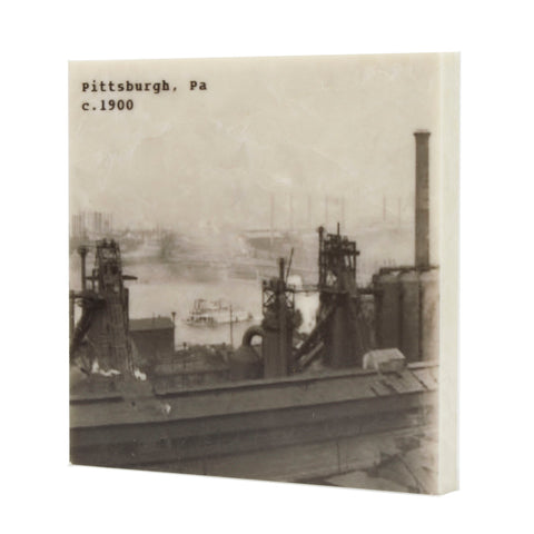 Pittsburgh PA Steel Mill Drink Coaster - 079