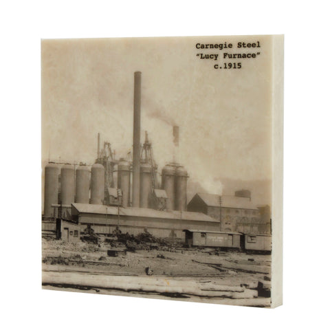 Carnegie Steel, Pittsburgh Steel Mill Drink Coaster - 076