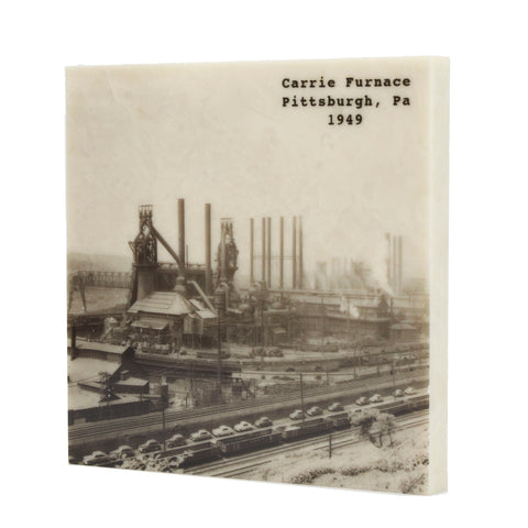 Carrie Furnace 1949 Drink Coaster - Pittsburgh, PA - 077