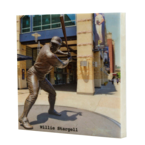 Willie Stargell Statue in Color Drink Coaster - 705