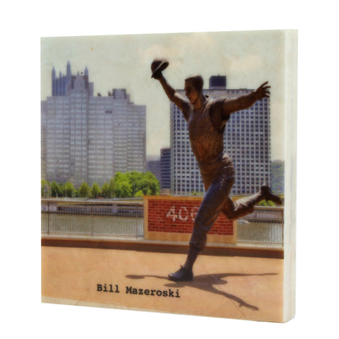 Bill Mazeroski Statue Drink Coaster - 701