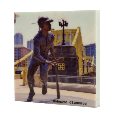 Roberto Clemente Statue in Color Drink Coaster - 703