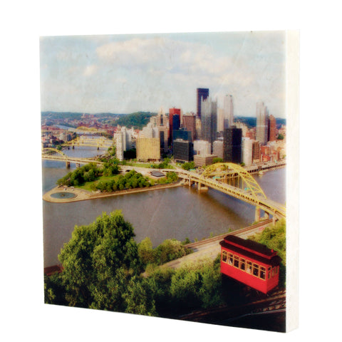 Duquesne Incline Drink Coaster - Pittsburgh, PA - 083