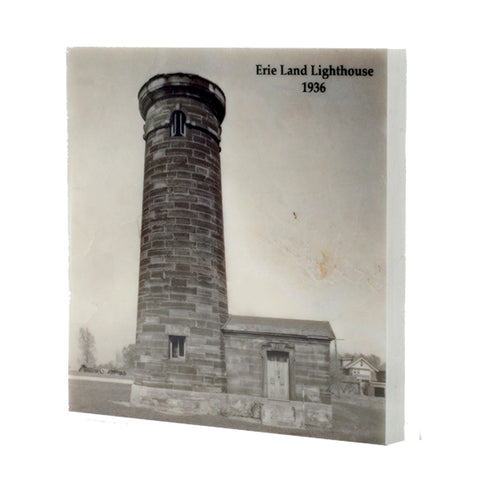 Erie Land Lighthouse 1936 Erie PA Drink Coaster - E13