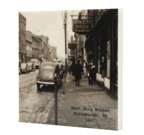 East Ohio Street 1947 Pittsburgh, PA Coaster - 328