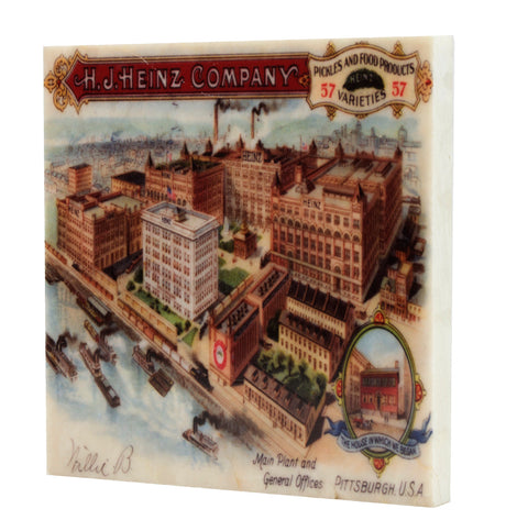 H. J. Heinz Main Plant Pittsburgh, PA Drink Coaster - 337