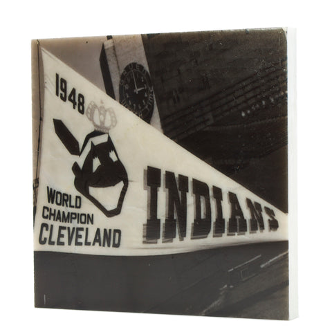 Indians Pennant Coaster - 5013