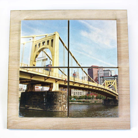 Sixth St. Bridge Drink Coaster Set - DCS088