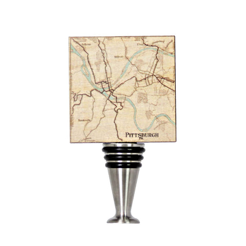 Pittsburgh Map2 Wine Stopper - WS103