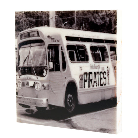 Pirate's Bus Drink Coaster - Pittsburgh, PA - 074