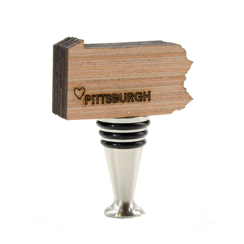 Heart Pittsburgh Wine Stopper- WS270
