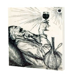 Contemplating Wine Drink Coaster - 600