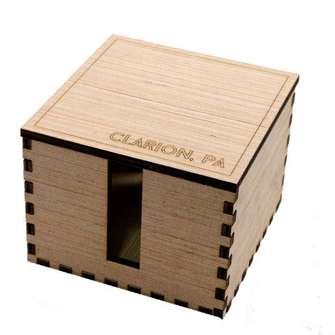6 Holder Wooden Clarion Coaster Box