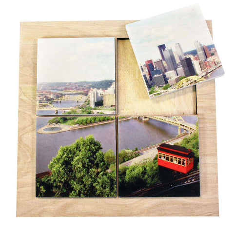 Duquesne Incline Color Drink Coaster Set - DCS083