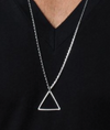 Rhodium Triangle Necklace