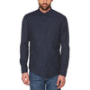 Navy Heathered Textured Shirt