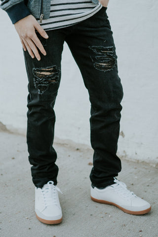 Shredded Skinny Denim