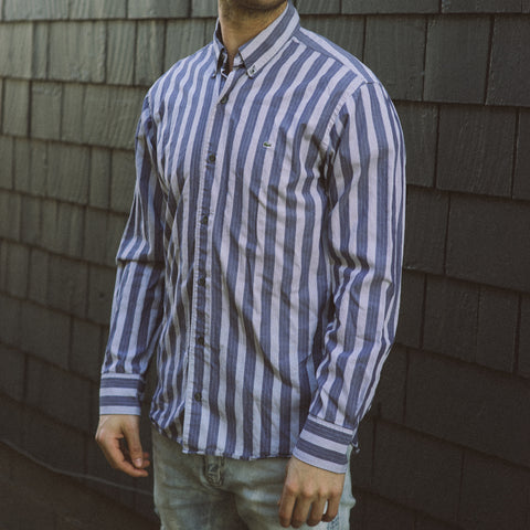 Vintage Striped Button-Down