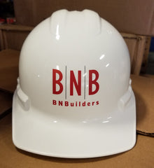Custom BNB Hard Hat Front