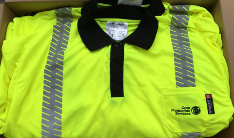 Crop Production Services Custom Safety Polo