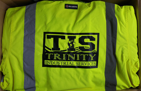 Custom Safety Jacket Trinity Industrial Services |Global Construction Supply