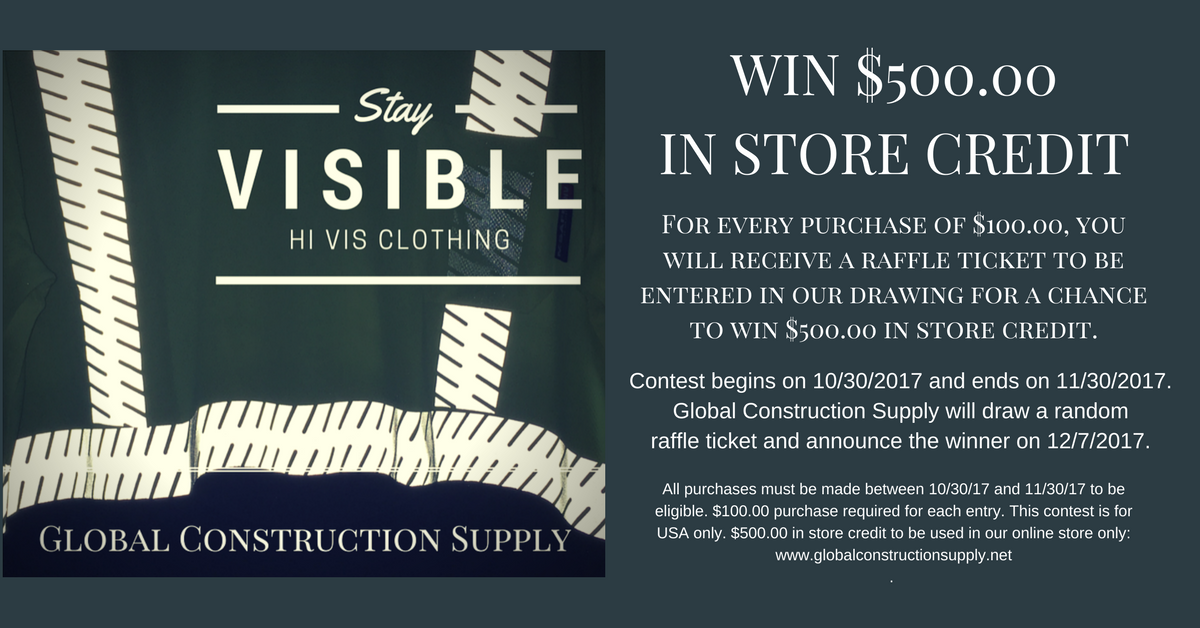 Win $500 in store credit | Global Construction Supply