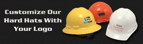 Custom hard hats with your logo