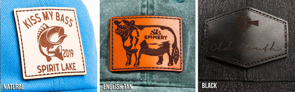 Pacific Headwear Custom Genuine Leather Patches | Global Construction Supply