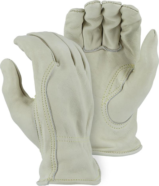 Majestic 1510BAK Kevlar Sewn Extra Heavy Cowhide Leather Driver Gloves (DOZEN) - Global Construction Supply