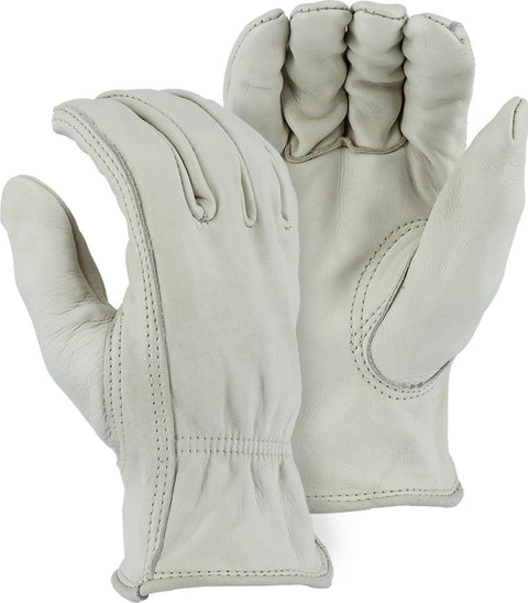 Majestic 1510BA Extra Heavy Cowhide Leather Driver Gloves (DOZEN) - Global Construction Supply
