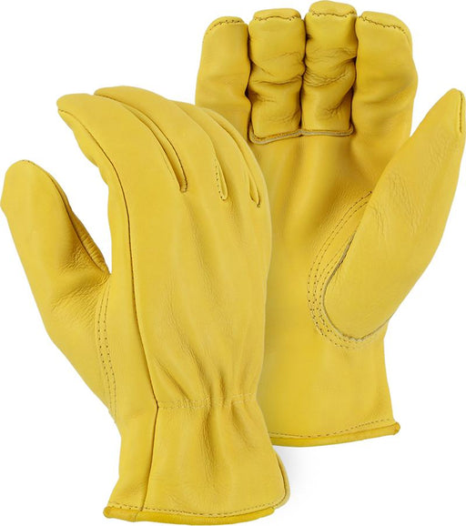 Majestic 1510G Gold Cowhide Leather Driver Gloves (DOZEN) - Global Construction Supply