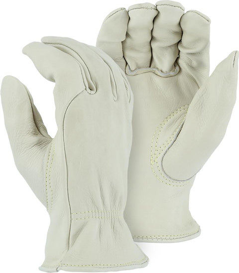 Majestic 1510K Cream Cowhide Leather Driver Gloves Kevlar Sewn (DOZEN) - Global Construction Supply
