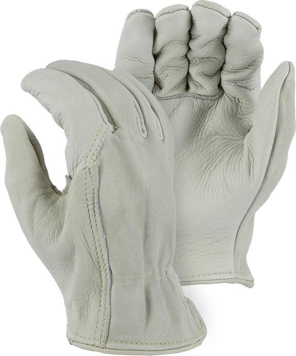 Majestic 1510W Cowhide Leather Driver Gloves Kevlar Sewn (DOZEN) - Global Construction Supply