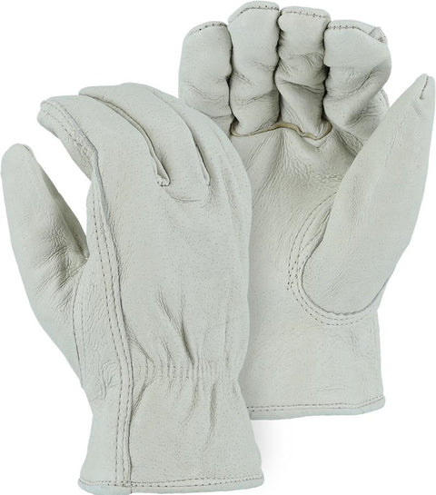 Majestic 1511P Pigskin Leather Driver Gloves Red Fleece Lined (DOZEN) - Global Construction Supply