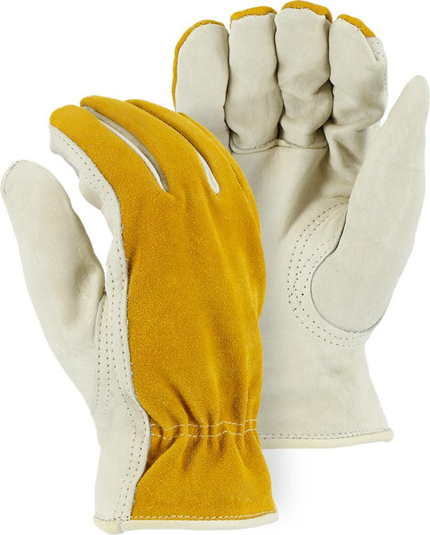 Majestic 1534 Cowhide Palm Leather Winter Driver Gloves Pile Lined (DOZEN) - Global Construction Supply