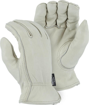 Majestic 1540T Gemsbok Leather Driver Gloves Shirred Back Thinsulate Lined (DOZEN)