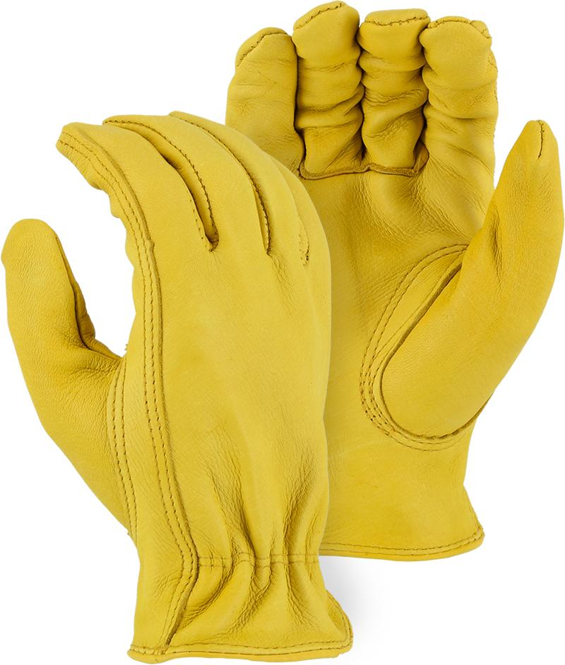 Majestic 1541-S Deerskin Leather Driver Gloves Kid's Sizes (DOZEN) - Global Construction Supply
