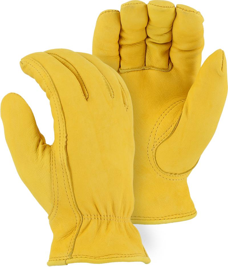 Majestic 1542 Deerskin Leather Winter Driver Gloves Pile Lined (DOZEN) - Global Construction Supply