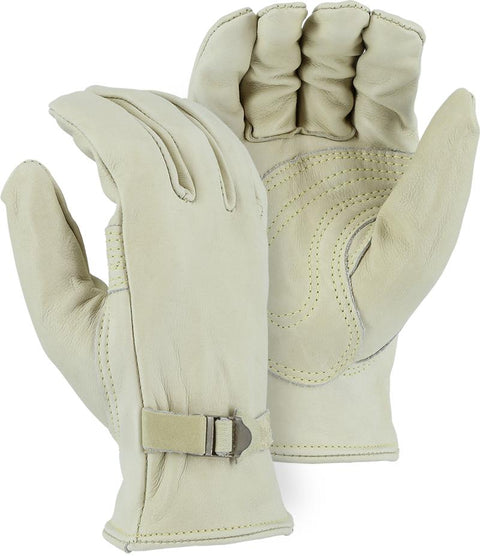Majestic 1550 Heavy Cowhide Leather Driver Gloves Kevlar Sewn (DOZEN) - Global Construction Supply